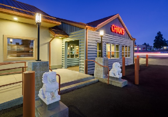 The new exterior of Chan's Chinese Restaurant